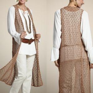 Chico's Valerie Crochet Vest